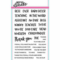 Heffy Doodle - Clear Photopolymer Stamps - Teach Me Words