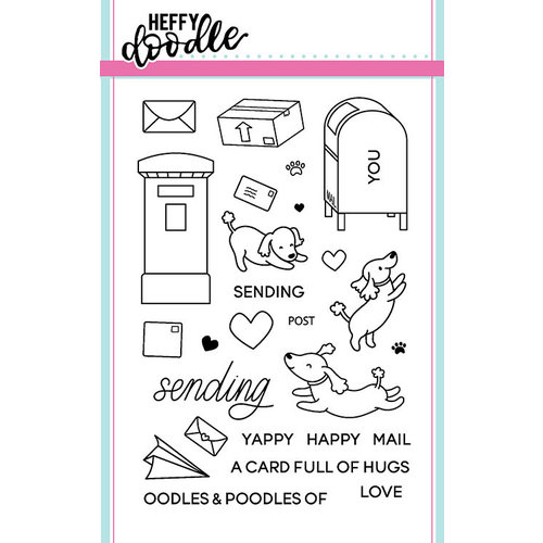 Heffy Doodle - Clear Photopolymer Stamps - Yappy Happy Mail