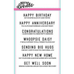 Heffy Doodle - Clear Acrylic Stamps - Everyday Sentiment Duos