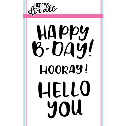 Heffy Doodle - Clear Photopolymer Stamps - Big Bold Words