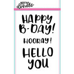 Heffy Doodle - Clear Acrylic Stamps - Big Bold Words