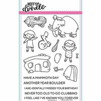 Heffy Doodle - Clear Photopolymer Stamps - Prehistoric Pals