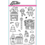 Heffy Doodle - Christmas - Clear Acrylic Stamps - Santa's Village