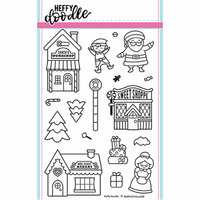 Heffy Doodle - Christmas - Clear Photopolymer Stamps - Santa's Village