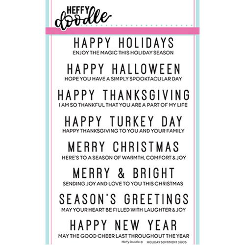 Heffy Doodle - Holiday Sentiment Duos Stamp set