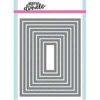Heffy Doodle - Cutting Dies - Imperial Stitched Rectangles