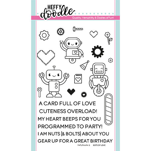 Heffy Doodle - Clear Photopolymer Stamps - Bots of Love