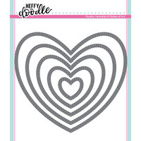 Heffy Doodle - Cutting Dies - Stitched Hearts