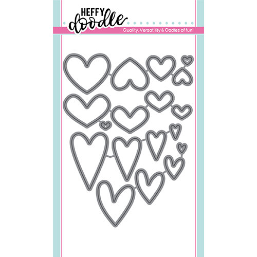 Heffy Doodle - Cutting Dies - Whole Lotta Hearts
