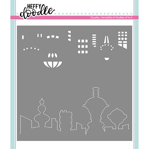 Heffy Doodle - Stencil - Futuristic Skyline