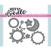 Heffy Doodle - Cutting Dies - Sun, Moon and Stars