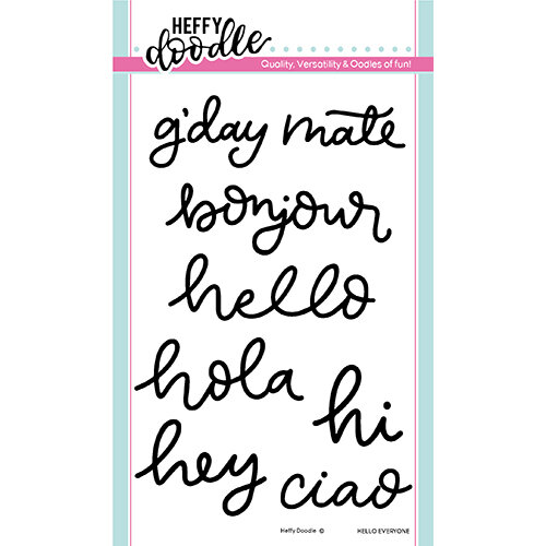 Heffy Doodle - Clear Photopolymer Stamps - Hello Everyone