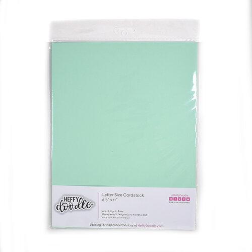 Heffy Doodle - 8.5 x 11 Cardstock - Hint of Mint - 10 Pack