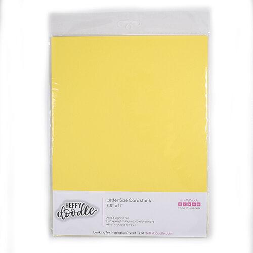 Heffy Doodle - 8.5 x 11 Cardstock - Banana Split - 10 Pack