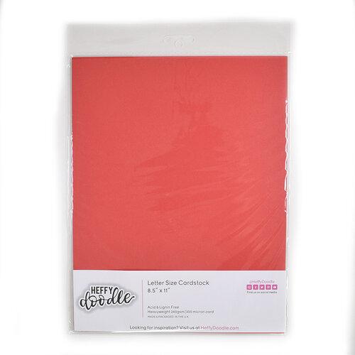 Heffy Doodle - 8.5 x 11 Cardstock - Cherry On Top - 10 Pack