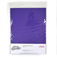 Heffy Doodle - 8.5 x 11 Cardstock - Plum Pudding - 10 Pack