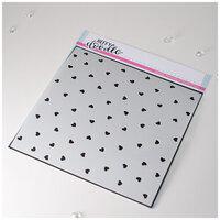 Heffy Doodle - Stencil - Confetti Hearts