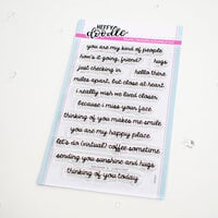 Heffy Doodle - Clear Photopolymer Stamps - Close At Heart Sentiments