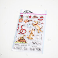 Heffy Doodle - Clear Photopolymer Stamps - Hot Diggity Dog