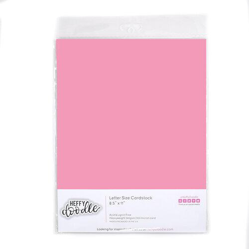 Heffy Doodle - 8.5 x 11 Colored Cardstock - Bubblegum Blush