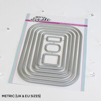 Heffy Doodle - Dies - Stitched Rounded Metric Rectangle
