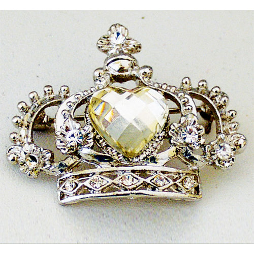 Melissa Frances - Vintage Jeweled Brooch - Crown Jewel