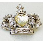 Melissa Frances - Vintage Jeweled Brooch - Crown Jewel