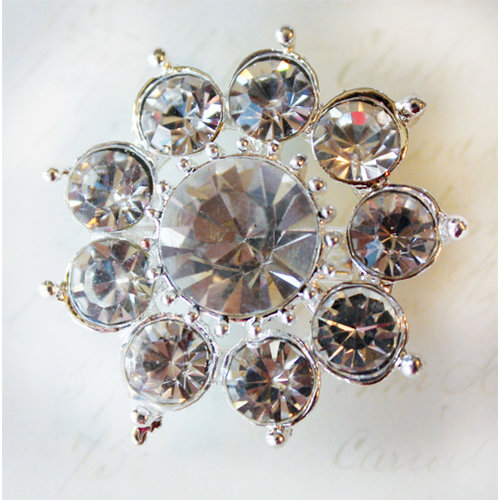 Melissa Frances - Vintage Jeweled Brooch - Ravishing Rhinestones
