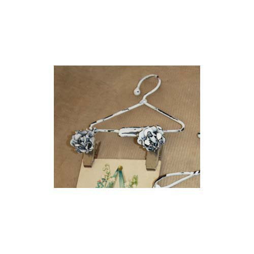 Melissa Frances - Mini Metal Hangers - Flower Clip - 6 Inch