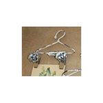 Melissa Frances - Mini Metal Hangers - Flower Clip - 4 Inch