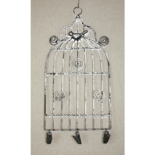 Melissa Frances - Birdcage Memo Holder - Small - White