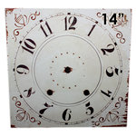 Melissa Frances - Clock Wall Hangings - Square Clock Face - 14 Inch