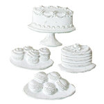 Melissa Frances - Vintage Resin Applique - Cakes and Cookies