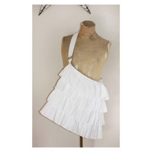 Melissa Frances - Fabric Tote - White