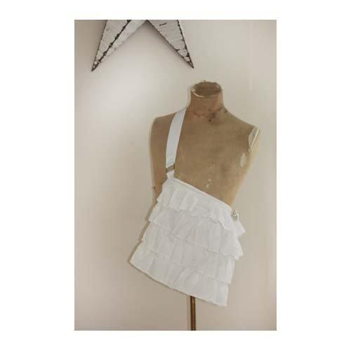 Melissa Frances - Fabric Purse -White