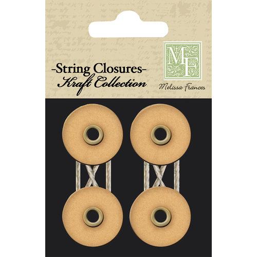 Melissa Frances - Chalk Talk Collection - String Closures - Kraft