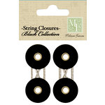 Melissa Frances - Chalk Talk Collection - String Closures - Black