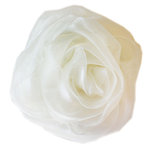 Melissa Frances - Vintage Flower - Organza Cream Rose
