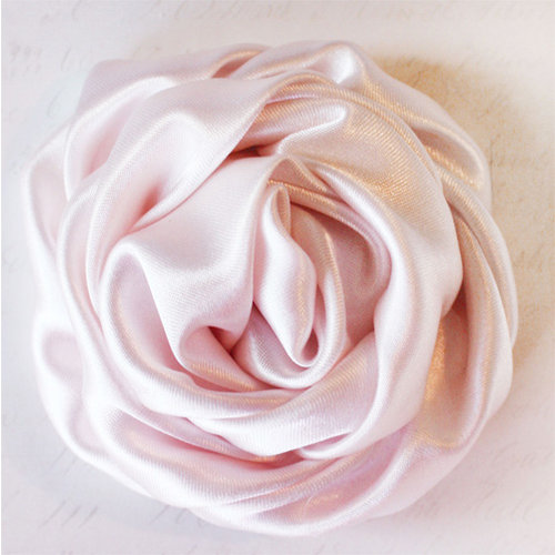 Melissa Frances - Vintage Flower - Pink Satin Twist Rose