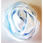Melissa Frances - Vintage Flower - Soft Blue Satin Twist Rose