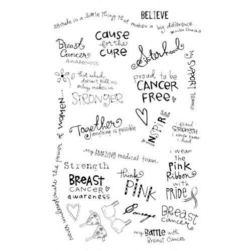 Melissa Frances - Expressive Transfers - Rub Ons - Breast Cancer