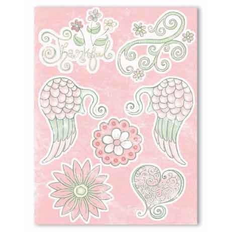 Melissa Frances - Heart and Home - Thankful Collection - 3 Dimensional Stickers - Thankful