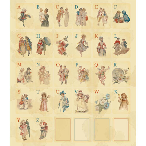 Melissa Frances - Attic Treasures Collection - Cardstock Stickers - Playing Card