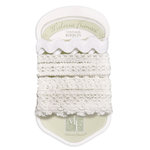 Melissa Frances - Heart and Home - Vintage Ribbon - White, CLEARANCE