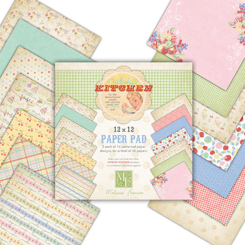 Melissa Frances - Kitschy Kitchen Collection - 12 x 12 Paper Pad
