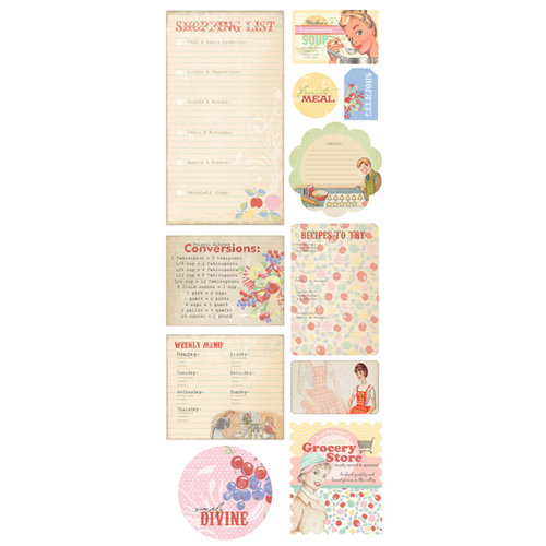 Melissa Frances - Kitschy Kitchen Collection - Chipboard Pieces - Retro
