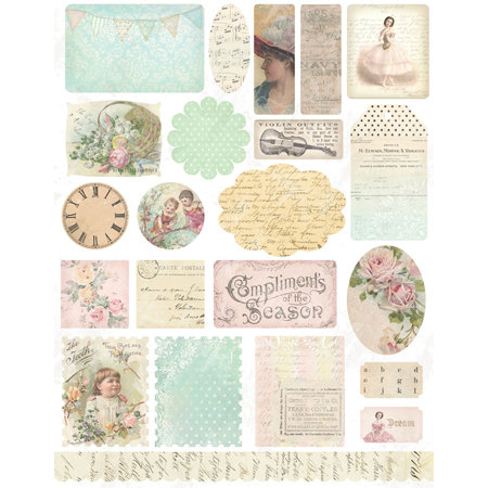 Melissa Frances - 5th Avenue Collection - Cardstock Stickers - Ephemera