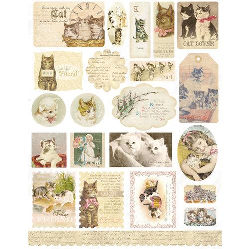 Melissa Frances - Cardstock Stickers - Ephemera - Here Kitty Kitty