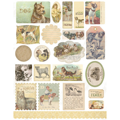 Melissa Frances - Cardstock Stickers - Ephemera - Dog Gone Cute