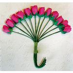 Melissa Frances - Vintage Flower - Deep Pink Mini Rose